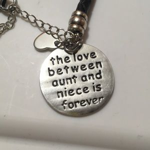 """Jewelry - """"The love between aunt and niece is forever"""""""